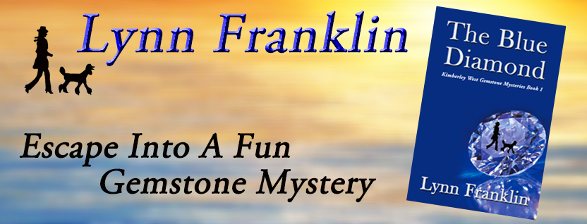 The Blue Diamond, Lynn Franklin, cozy mystery, fun mystery, poodle mystery